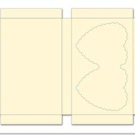 REDDY Boîtier serti avec des coeurs, la crème, le format 25x15cm, 3 pièces!