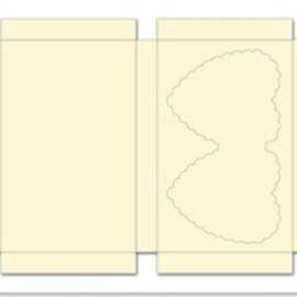 REDDY Case set met harten, room, formaat 25x15cm, 3 stuks!