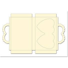 REDDY Sag sæt med hjerter, fløde, format 25x15cm, 3 stykker!