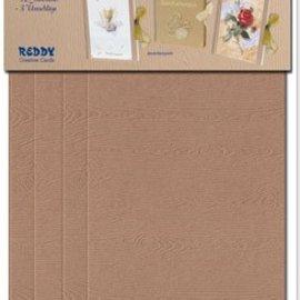 KARTEN und Zubehör / Cards Materiale kit til 3 gave bogvalg kort i hvid, lys eller mørk brun!