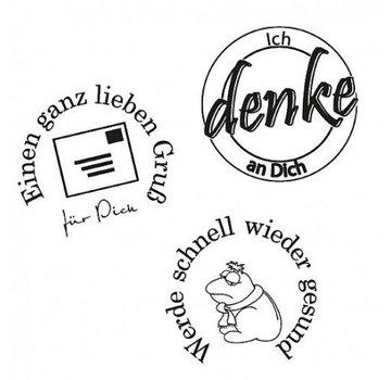 Stempel / Stamp: Transparent Stamp: penso a te, 3 - pezzo