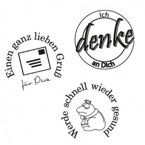 Stempel / Stamp: Transparent Stempel: ik denk aan je, 3 - stuk