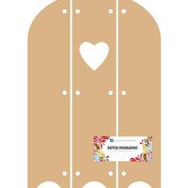 Objekten zum Dekorieren / objects for decorating DooBaDoo holandés - MDF Triptech con el corazón