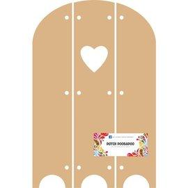 Objekten zum Dekorieren / objects for decorating Hollandsk DooBaDoo - MDF Triptech med Heart