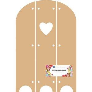 Objekten zum Dekorieren / objects for decorating DooBaDoo Néerlandais - MDF Triptech avec le coeur