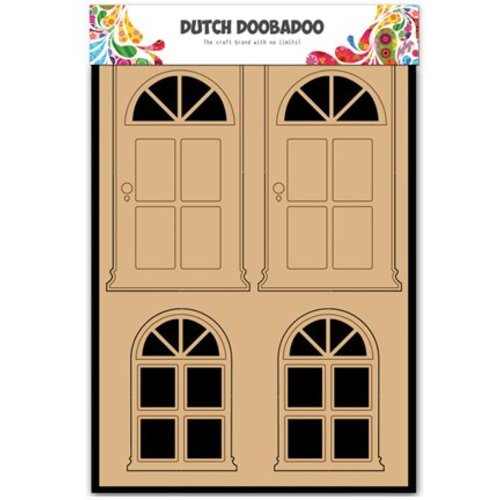 Objekten zum Dekorieren / objects for decorating MDF Néerlandais DooBaDoo, portes et fenêtres