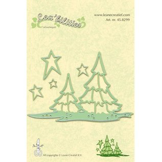 Leane Creatief - Lea'bilities und By Lene Lea'bilities, embossing and cutting mat, landscape and trees
