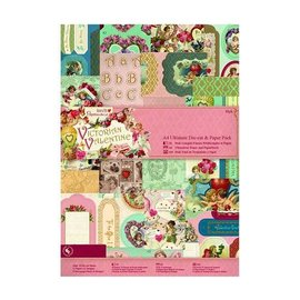 Karten und Scrapbooking Papier, Papier blöcke Ultimate A4 Die-cut & Paper Pack (48pk) - Victorian Collection
