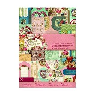 Karten und Scrapbooking Papier, Papier blöcke Ultimate A4 Die-cut & Paper Pack (48pk) - Victoriaans Collectie