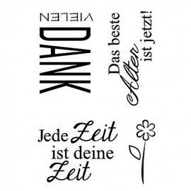 Stempel / Stamp: Transparent Clear stamps, each time is your time, A7, 4 - piece
