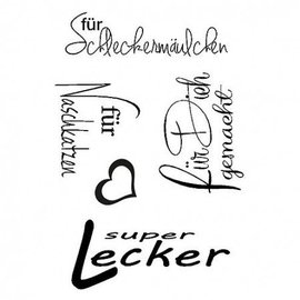 Stempel / Stamp: Transparent Clear stamps, delicious, A7 - 5 part