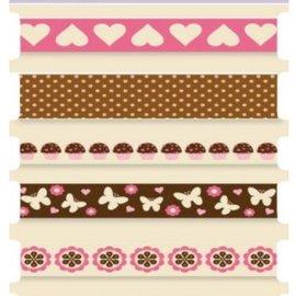 "Cart-Us Cintas decorativas, ""dulce"" de la compra-Us, 7 x 1mtr"