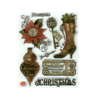 VIVA DEKOR (MY PAPERWORLD) AANBIEDING! Transparante stempel, SteamPunk, Kerstmis door Viva Decor - BEPERKT!