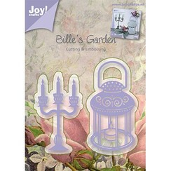 Embossing and cutting mat, candle holders and lamp