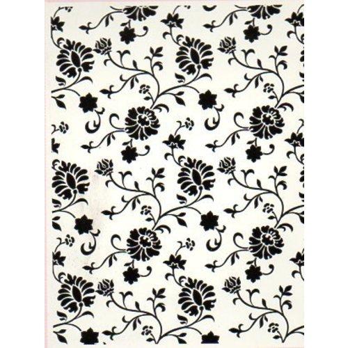 embossing Präge Folder Prægning af mapper, sommerhus blomstermotiver, A6, 14,8 x 10.5cm