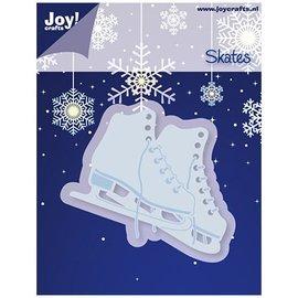 Joy!Crafts / Jeanine´s Art, Hobby Solutions Dies /  Goffratura e taglio stuoia, pattini da ghiaccio