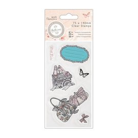 Docrafts / Papermania / Urban Transparent Stempel, 75 x 140mm - Bellisima -Shoes & Bags