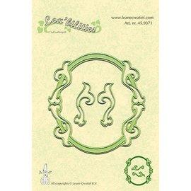 Leane Creatief - Lea'bilities und By Lene Stampaggio e goffratura stencil, stencil Multi, cornici ovali
