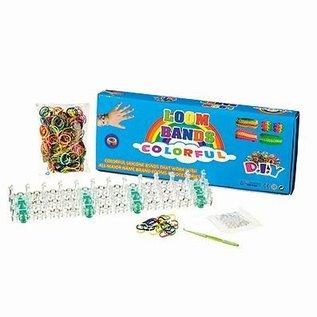 Komplett Sets / Kits Loom bands Starter sæt, uigennemsigtige, 528 dele