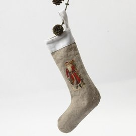 Objekten zum Dekorieren / objects for decorating Textiel cijfers, H: 26 cm, Nikolaus Socks 2 stuks