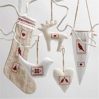 Objekten zum Dekorieren / objects for decorating Textiel cijfers, H: 26 cm, Nikolaus Socks 2 stuks