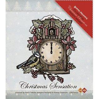 Yvonne Creations Yvonne Creations, Clear stamps, Scène Kerstmis
