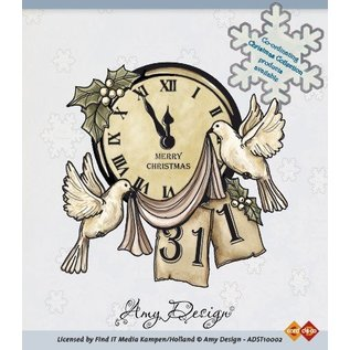 AMY DESIGN AMY DESIGN, een transparante stempels, kerst motief