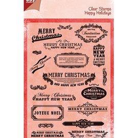 Joy!Crafts / Jeanine´s Art, Hobby Solutions Dies /  Alegría manualidades, sello transparente, texto Inglés para la Navidad