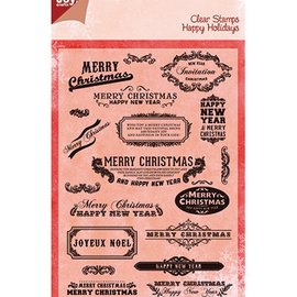 Joy!Crafts / Jeanine´s Art, Hobby Solutions Dies /  Joy Crafts, Transparent stempel, engelske tekst til jul