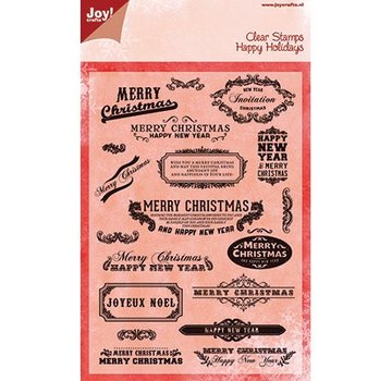 Joy!Crafts / Jeanine´s Art, Hobby Solutions Dies /  Joy Crafts, Transparent stamp, English text for Christmas