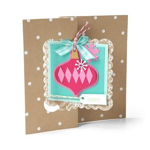 Sizzix Punching and embossing templates: Christmas balls