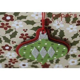 Sizzix Punzonado y estampado en relieve plantillas: Bolas de Navidad