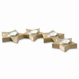 Objekten zum Dekorieren / objects for decorating Kerzenhalter, 4 Sterne Alueinsatz halbrund