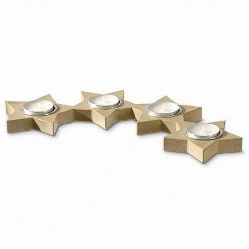 Objekten zum Dekorieren / objects for decorating Bougeoir, 4 étoiles Alueinsatz semi-circulaire