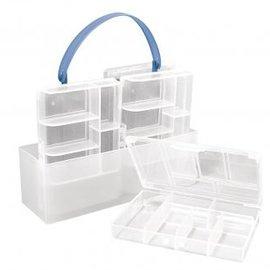 BASTELZUBEHÖR, WERKZEUG UND AUFBEWAHRUNG Sorting box, 4 small boxes