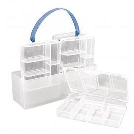 BASTELZUBEHÖR, WERKZEUG UND AUFBEWAHRUNG Clasificación caja, 4 cajas pequeñas
