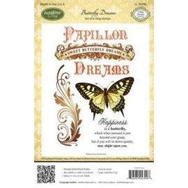 JUSTRITE AUS AMERIKA Justrite Rubber Stamp, vlinder