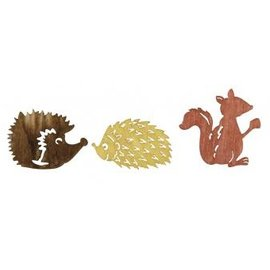 Embellishments / Verzierungen Wood Streuteile autumn friends 1.5-2cm, 24 pcs