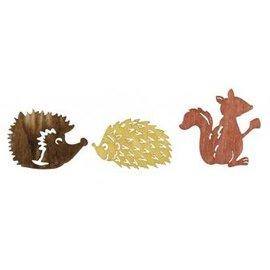 Embellishments / Verzierungen Wood Streuteile herfst vrienden 1.5-2cm, 24 stuks