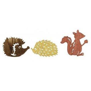 Embellishments / Verzierungen amigos de otoño de madera Streuteile 1.5-2cm, 24 piezas