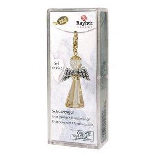 BASTELSETS / CRAFT KITS Card kit Crystal Guardian Angel, 3,2x2 cm, met karabijnhaak, golden shadow