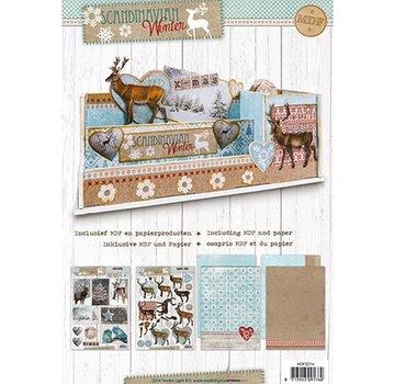 Objekten zum Dekorieren / objects for decorating MDF Pakket incl.papier - Desk organizer Scandinavisch