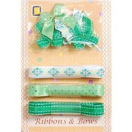 DEKOBAND / RIBBONS / RUBANS ... Collectie: Lint en type van slijpen groene tinten,
