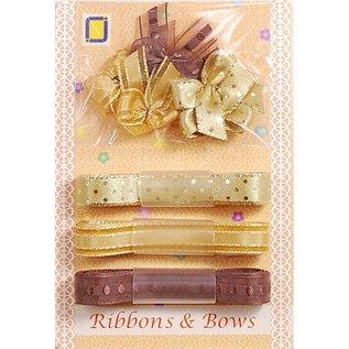 DEKOBAND / RIBBONS / RUBANS ... Collectie: Lint en type van het malen tinten van bruin,