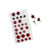 Embellishments / Verzierungen Brads assortimento, D: 8-13 mm, rossi, classificato 28