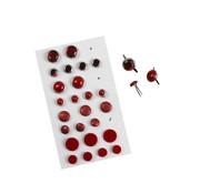 Embellishments / Verzierungen Brads Assortment, D: 8-13 mm, reds, ranked 28