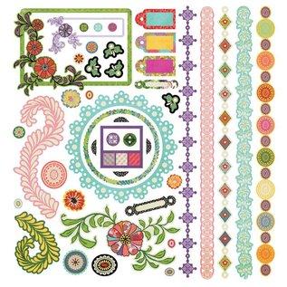 STICKER / AUTOCOLLANT Indie bloei stickers, 30,5 x 30,5 cm