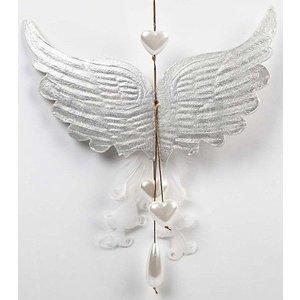 Objekten zum Dekorieren / objects for decorating 1 wing with imprints, B: 21 cm, H: 13 cm