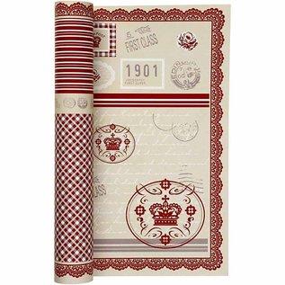 Karten und Scrapbooking Papier, Papier blöcke Hübsche Designer Papier, Beidseitig bedruckt, 30,5x30,5 cm, 5 Blatt, 120gr.