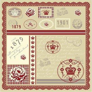 Karten und Scrapbooking Papier, Papier blöcke Pretty designer paper, printed on both sides, 30.5x30.5 cm, 5 sheets, 120gr.